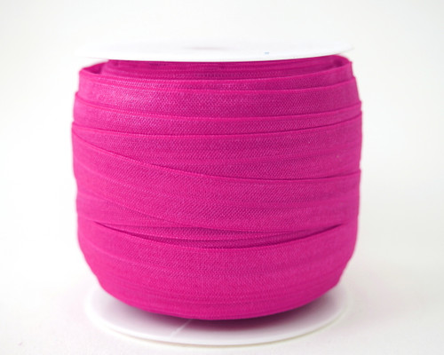5/8 x 50 Yards Fuchsia Fold Over Elastic Sewing Trim