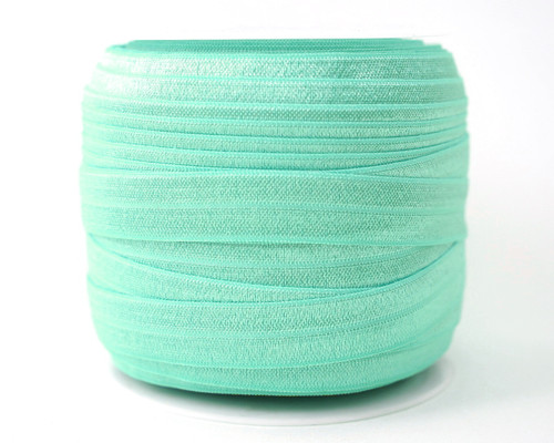 5/8 x 50 Yards Aqua Fold Over Elastic Sewing Trim