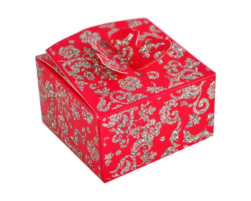 Fuchsia Butterfly Glitter Favor Box - Pack of 50