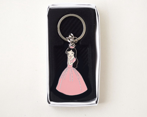 Pink Quinceanera Metal Keychain - Pack of 12