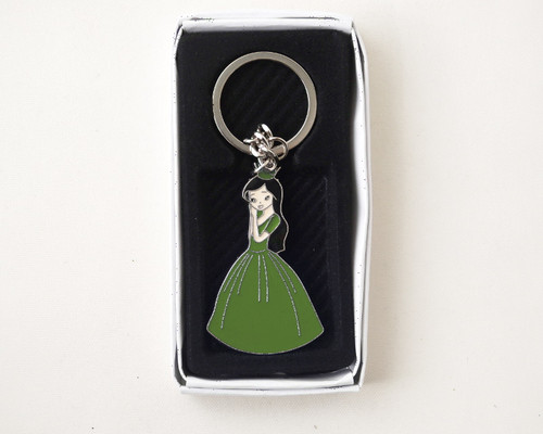 Apple Green Quinceanera Metal Keychain - Pack of 12
