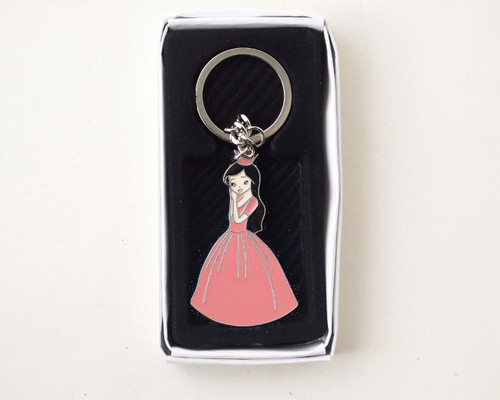 Coral Quinceanera Metal Keychain - Pack of 12