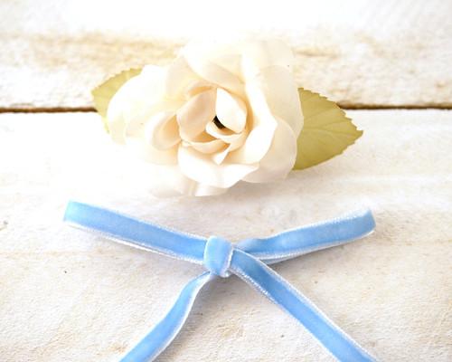 """1/4"""" x 50 Yards Blue Velvet Ribbon"""