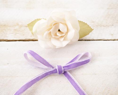 """1/4"""" x 50 Yards Lavender Velvet Ribbon"""