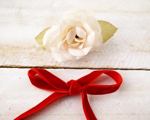 """3/8"""" x 50 Yards Red Velvet Ribbon"""