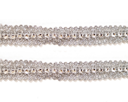 "5/8"" x 10 Yards Metallic Trim with Plastic Composed Rhinestone Chain - Pack of 5"