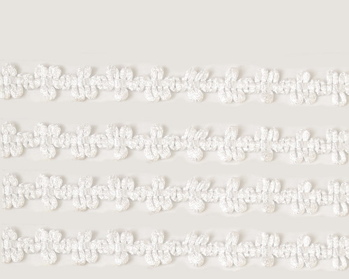 """3/8"""" x 25 Yards All White French Rococo Ribbon Trim - Pack of 5"""
