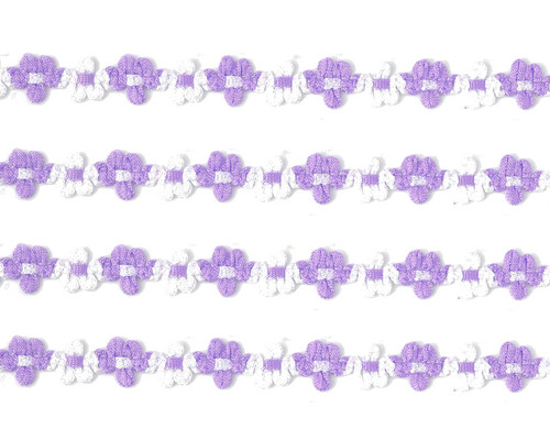 """3/8"""" x 25 Yards Lavender French Rococo Ribbon Trim - Pack of 5"""