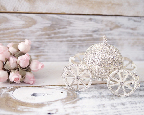 Crystal Pumpkin Carriage Ring Box - 1 Box