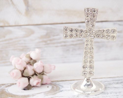 Rhinestone Cross Decoration - 1 Piece
