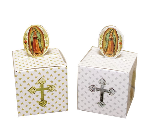 """2"""" Guadalupe Paper Favor Box - Pack of 50"""