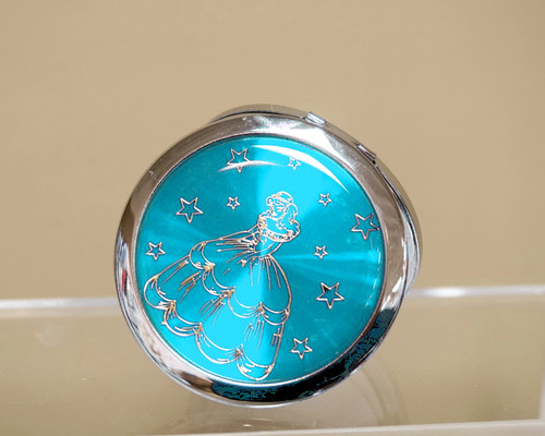 "3"" Turquoise Quinceanera Compact Mirror - 12 Mis Quince Compact Hand Mirrors"