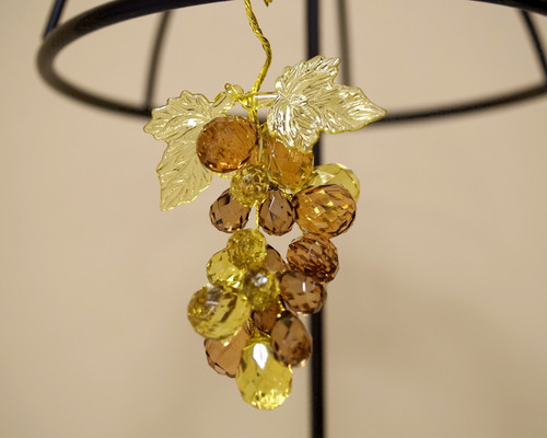 "3"" Brown Artificial Acrylic Grape Cluster on Wire - Pack of 12 Cluster"