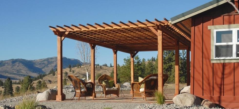 Pergola kits for Redwood patio cover