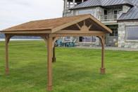 Pressure treated pine gabled roof pavilion
