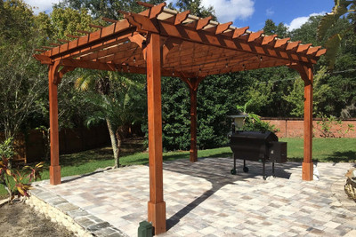 14u0027 X 12u0027 Post To Post Classic Red Cedar Pergola / 9