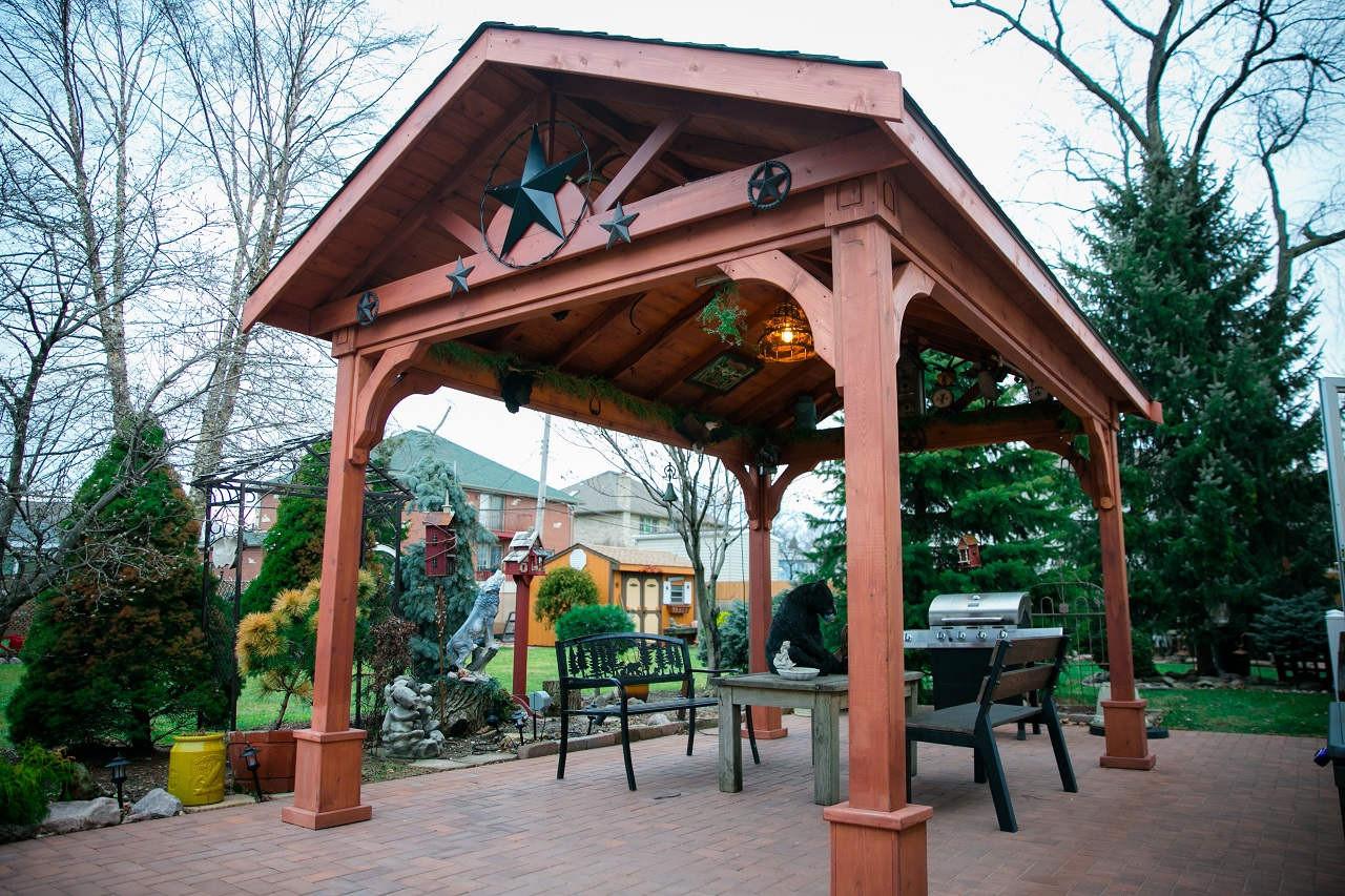 Red Cedar Gabled Roof Pavilion Pergolakitsusa Com