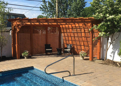 Triangle Pergola Western Red Cedar 14x14x20 Two 3ft Extensions On Either End
