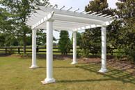 Veranda pergola kit fiberglass white free standing