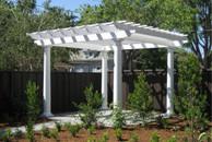 Santa Rosa Pergola kit - free standing fiberglass round tapered column v17
