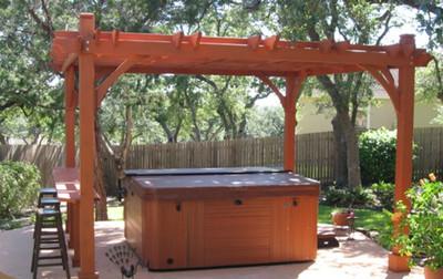 hot tub pergola kit - Everlynn cedar pergola kit - Western Red Cedar Pergolas