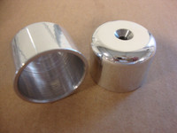 POLISHED REAR AXLE NUT COVER SET (2003 MODELS)