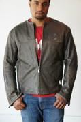Men's Vintage Leather Riding Jacket - Large