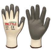 6650L TACTYLE™/13-GAUGE  WHITE NYLON SHELL  GRAY FOAM NITRILE PALM COATING Cordova Safety Products