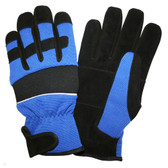 77011 PIT PRO™ ACTIVITY GLOVE  BLACK SYNTHETIC LEATHER PALM  BLUE SPANDEX BACK  THINSULATE® LINED  HOOK & LOOP CLOSURE  LARGE Cordova Safety Products
