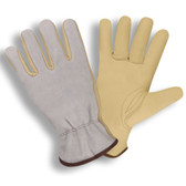 8233S STANDARD GRAIN COWHIDE DRIVER  PATCH PALM  GRAY SPLIT COWHIDE BACK  UNLINED  KEYSTONE THUMB Cordova Safety Products