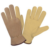 8825S SELECT GRAIN PIGSKIN DRIVER  UNLINED  BROWN SPLIT PIGSKIN BACK  SEAMLESS FOREFINGER  SHIRRED ELASTIC BACK  KEYSTONE THUMB Cordova Safety Products