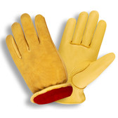 9060XL SELECT GRAIN DEERSKIN DRIVER  RED FLEECE LINED  SHIRRED ELASTIC BACK  KEYSTONE THUMB Cordova Safety Products
