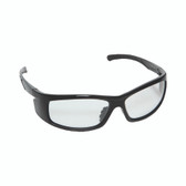 E02B10 VENDETTA™ BLACK GLOSS FRAME  CLEAR LENS  INTEGRATED SIDE SHIELDS Cordova Safety Products
