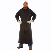 """RC35B605XL RENEGADE™ .35 MM PVC/POLYESTER  BLACK 2-PIECE RIDING COAT  LEG STRAPS  CORDUROY COLLAR  STORM FLY FRONT WITH SNAP BUTTONS  VENTILATED BACK/UNDERARMS  60"""" LENGTH  DETACHABLE HOOD Cordova Safety Products"""
