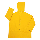 RJ352YM STORMFRONT™ .35 MM PVC/POLYESTER  YELLOW 2-PIECE RAIN JACKET  CORDUROY COLLAR  STORM FLY FRONT WITH ZIPPER/SNAP BUTTONS  DETACHABLE HOOD Cordova Safety Products