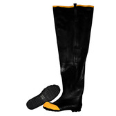 BHS-06 BLACK HIP BOOT WITH ADJUSTABLE STRAPS  STEEL TOE & SHANK  COTTON LINED  36-INCH LENGTH  SIZE 6 Cordova Safety Products