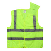 VB231P2XL CLASS II  5-POINT BREAKAWAY VEST  LIME MESH  ONE OUTSIDE POCKET  ONE INSIDE POCKET WITH HOOK & LOOP CLOSURE  2-INCH SILVER REFLECTIVE TAPE Cordova Safety Products