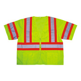 V3201L COR-BRITE™ CLASS III  LIME MESH VEST  ZIPPER CLOSURE  TWO-TONE CONTRASTING TRIM/REFLECTIVE TAPE  POCKETS/TWO INSIDE LOWER  TWO OUTSIDE CHEST  TWO OUTSIDE LOWER Cordova Safety Products