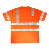 V4313XL COR-BRITE™ CLASS III  LIME BIRDSEYE MESH T-SHIRT  SHORT SLEEVES  CHEST POCKET  2-INCH SILVER REFLECTIVE TAPE Cordova Safety Products