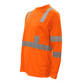 V5102XL COR-BRITE™ CLASS III  ORANGE BIRDSEYE MESH T-SHIRT  LONG SLEEVES  CHEST POCKET  2-INCH SILVER REFLECTIVE TAPE Cordova Safety Products
