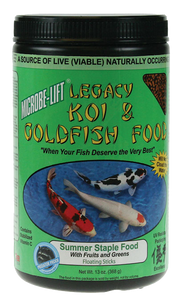 Microbe-Lift Legacy Koi and Goldfish food - Fruits and Greens 10 oz.