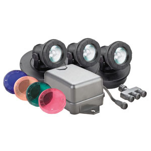 Pondmaster® 20 Watt Pond Light - 3 Light Kit and Transformer