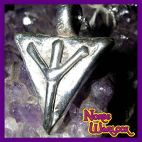 Elhaz Rune Pendant! Justice, Victory & Success are Yours! Algiz Viking
