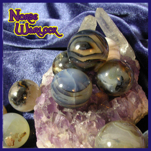 3 Ghost Agate Crystal Balls for Balance Harmony Acceptance Security!