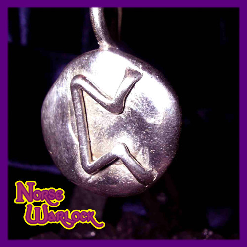 Pertho Rune Pendant! Esoteric Knowledge & Secrets! Viking Perth Peorth
