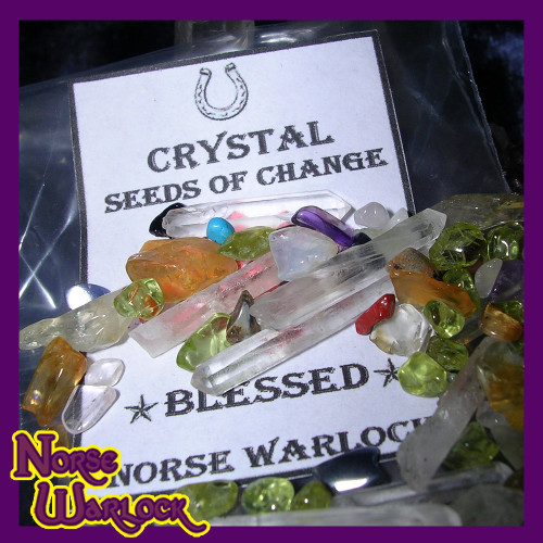 Enchanted Crystal Seeds of Change! Metaphysical Wishing Gemstones!