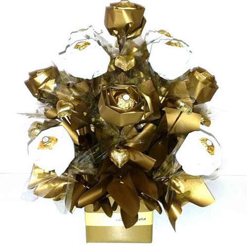 Golden Ferrero Rose Bouquet