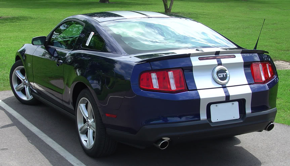 Stampede 2 Racing Stripes for 2010, 2011, 2012 Ford Mustang Back View