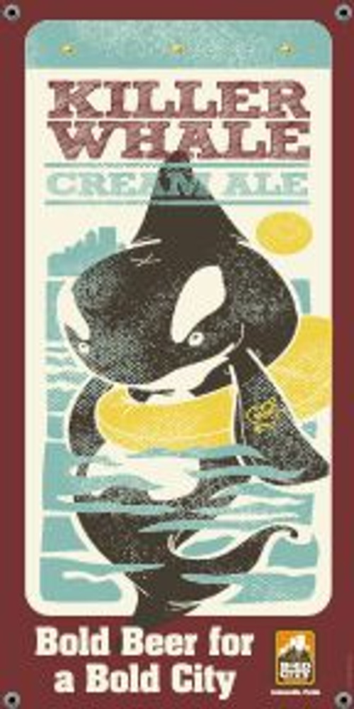 """Bold City Brewery 18.5"""" X 36"""" Killer Whale Banner"""