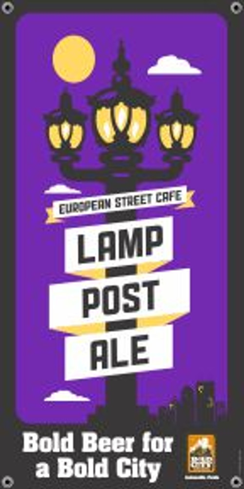 """Bold City Brewery 18.5"""" X 36"""" Lamp Post Ale Banner"""
